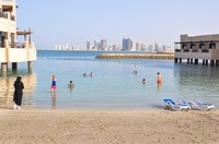 Day at the beach in Manama, Bahrain