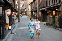 The Gion district in Kyoto, Japan