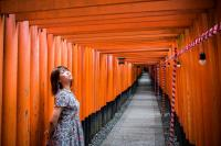 The Fushimi-Inari Taisha Shrine in Fushimi-ku, Japan