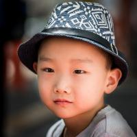 A young boy in Kyoto, Japan