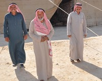 Three bedouin men