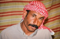 Bedouin in his tent