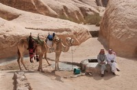 Bedouins by a water well in Wadi Rum