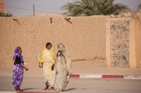 Women in a desert village