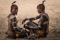Hamer tribe:   See more in the book: http://www.blurb.com/b/4633120-people-of-the-omo-valley-under-climate-and-other-p