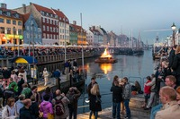 Midsummer evening, Nyhavn Copenhagen