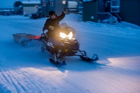 Snow mobile in Kuujjuaq, Canada