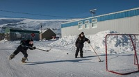 Ice hockey players Kangiqsualujjuaq Canada