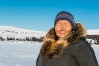 Inuit woman around Kangiqsualujjuaq, Canada