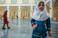 Children Playing in the Female Quarters of the Friday Mosque in Isfahan, Iran