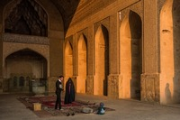 Late Afternoon in the Friday Mosque in Isfahan, Iran