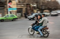 Bikers in Yazd, Iran