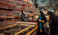 Silk Cloth Shop in Yazd, Iran