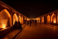 Evening on Si-o-Seh Bridge in Isfahan, Iran