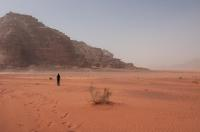 Dust storms are being coming more frequent  due to climate change, including in Wadi Rum, Jordan,
