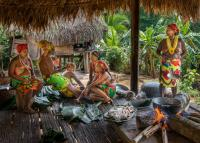 The Embera peoples in the remote forested areas of Panama are eating less fish as stocks are reduced because of the raising water temperature in the lakes.