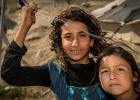 Two Syrian refugee girls in Jordan.