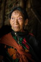 Naga Woman with Tattoos in the Northern Myanmar
