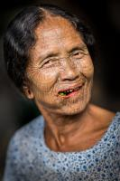 Betel-nut-chewing Chin woman, Myanmar