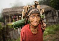 Naga Woman Fetching Firewood in Myanmar