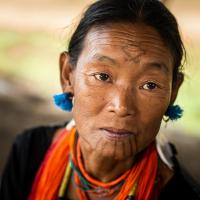 Tattooed Naga Woman, Myanmar