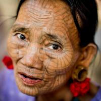 Tattooed Chin Woman, Myanmar