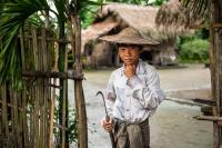 Shan Boy Is Heading to the Field, Myanmar
